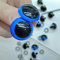 Глаза для игрушек 20мм. голубой цвет
