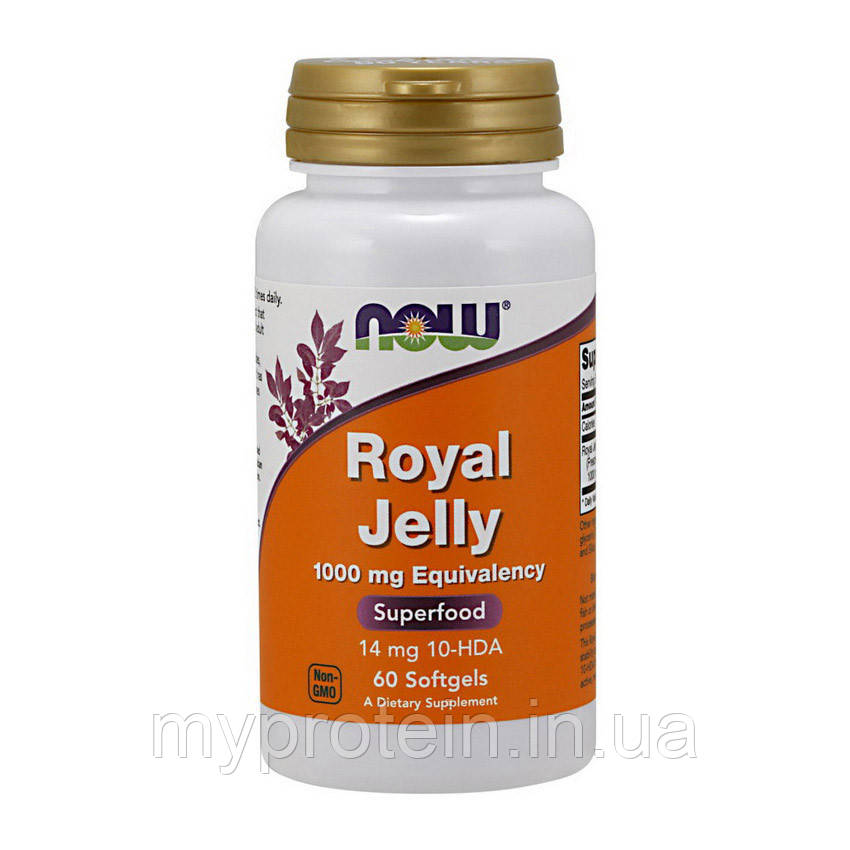 NOW Маточное молочко  Royal Jelly 1000 mg Eguivalency 60 softgels