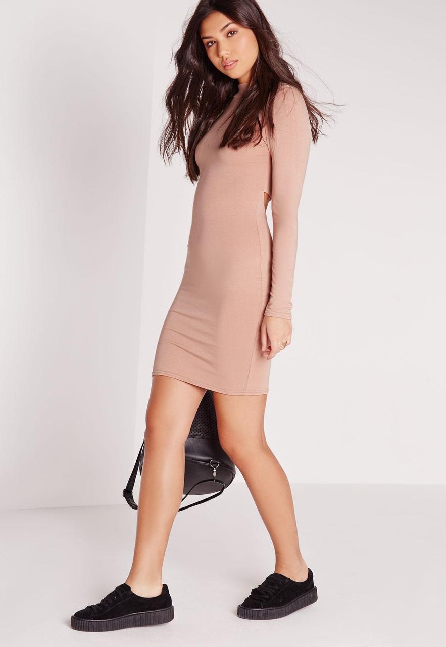 Новое облегающее платье с открытой спинкой Missguided