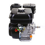 Двигатель бензиновый Weima WM170F-L (R) NEW с редуктором (шпонка, вал 20 мм, 1800 об/мин, бак 5 л, 7.5 л.с), фото 3