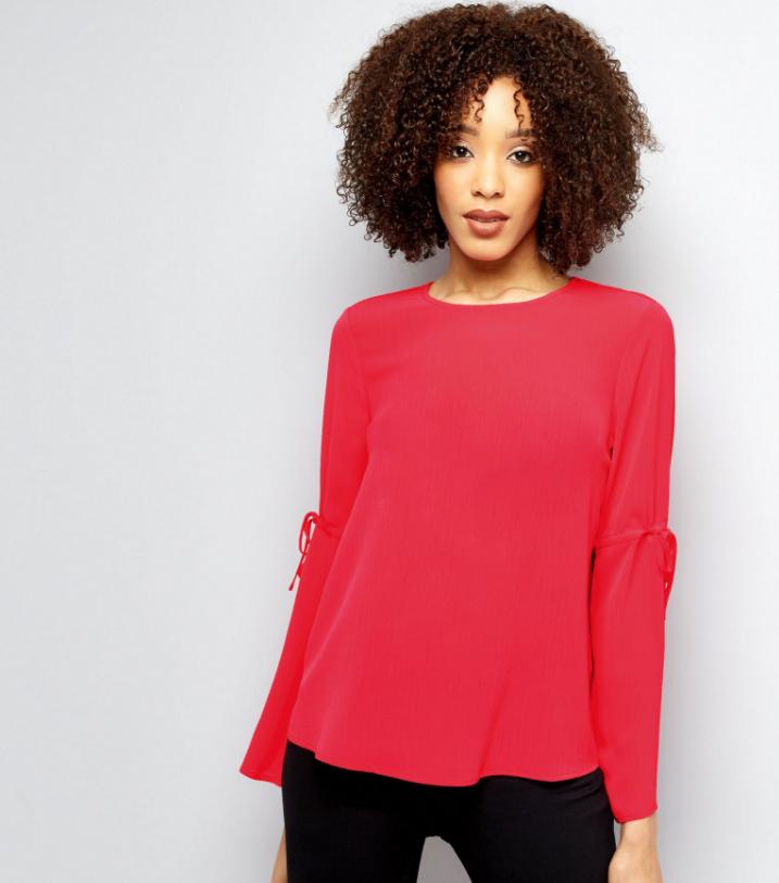 Новая яркая блуза с красивыми рукавами New Look