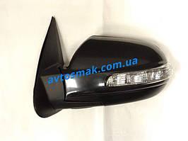 Зеркало левое электро без обогрева с указателем поворота без подсветки Hyundai Santa Fe 2006-09