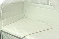 """Детский постельный набор в кроватку 120х60см 4 предмета Прованс белый ТМ """"Руно"""""""