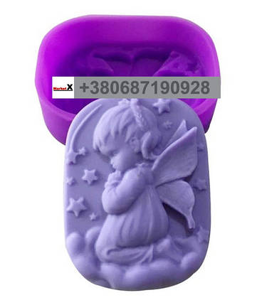 Харчова силіконова форма овальна з візерунком дівчинки, фото 2