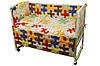 """Детский постельный набор в кроватку 120х60см 4 предмета Пазлы 1 ТМ """"Руно"""""""