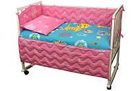 """Детский постельный набор в кроватку 120х60см 4 предмета Yellow cat ТМ """"Руно"""""""