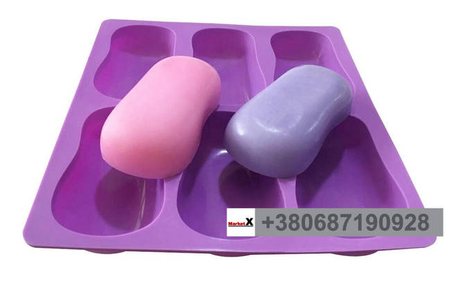 Пищевая силиконовая форма овальная без узора, фото 2