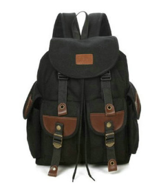 Рюкзак мешковина черный RRX