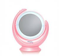 Двустороннее Косметическое зеркало GOTIE GMR-318 R с LED подсветкой (розовое), фото 1