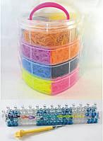 4 этажный набор резинок для плетения браслетов 10000 + станок профессиональный, фото 1