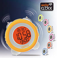 Настольный электронный будильник GOTIE GBE-200 N голубой