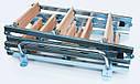 Комбіновані сходи на горище Altavilla Faggio Cold Metal 3S бук + метал 3-х секційні, фото 2