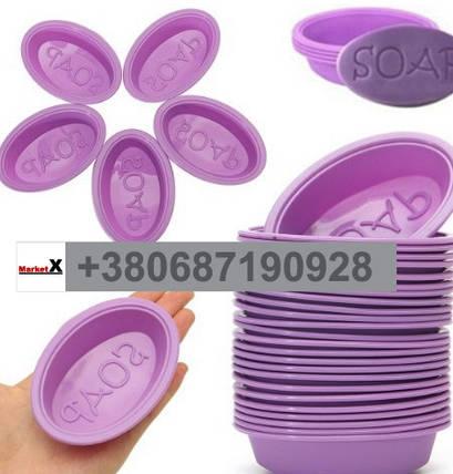 Пищевая силиконовая форма овальная с текстом SOAP, фото 2