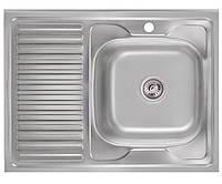 Кухонная мойка 0,6 мм Imperial 6080R(06) Satin нержавеющая сталь