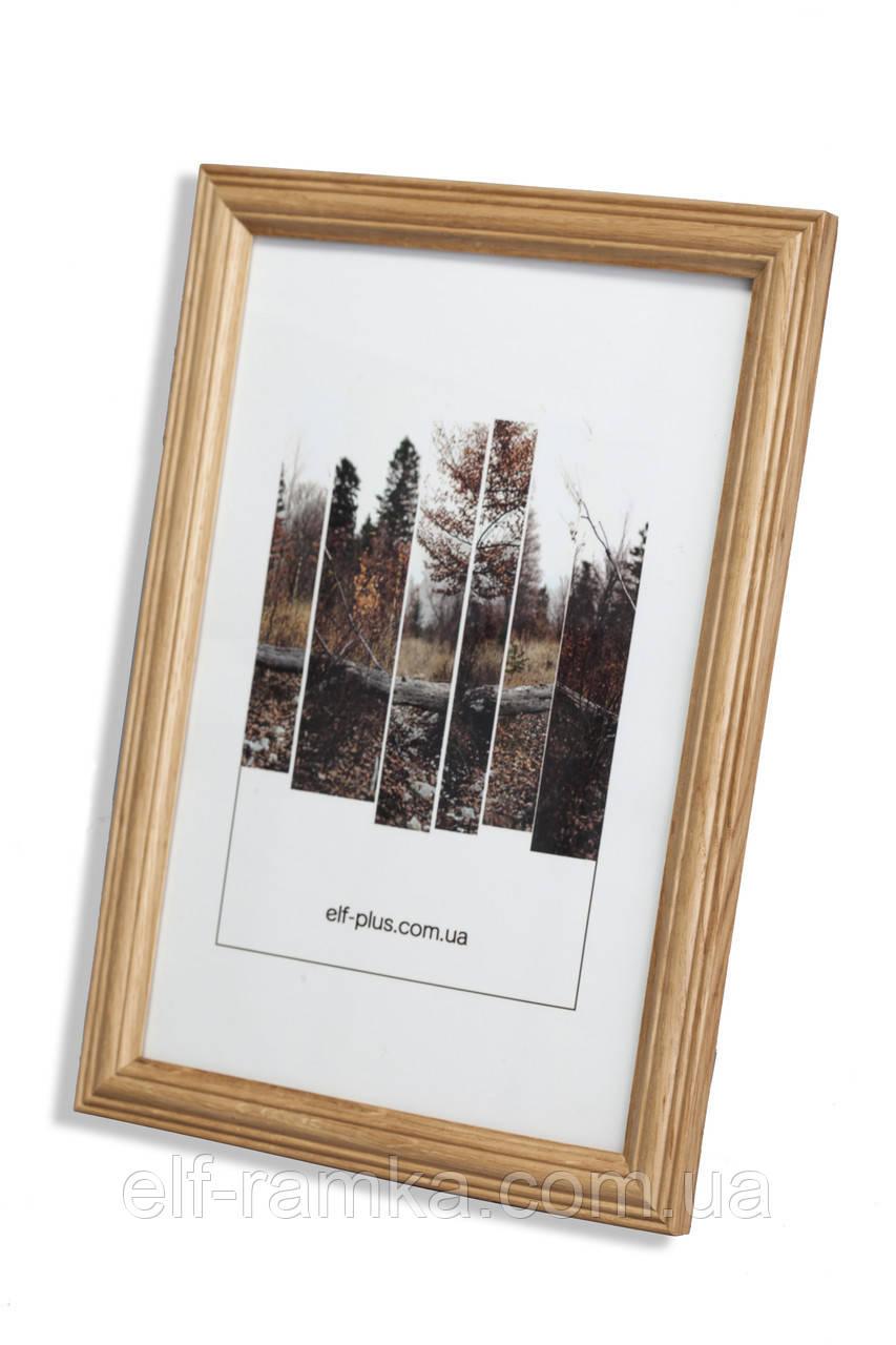 Рамка а1 из дерева - Дуб светлый 2,2 см - со стеклопластиком