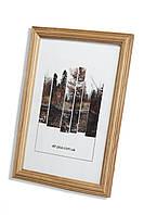 Рамка а1 из дерева - Дуб светлый 2,2 см - со стеклопластиком, фото 1