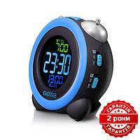 Электронный будильник синий GOTIE GBE-300N