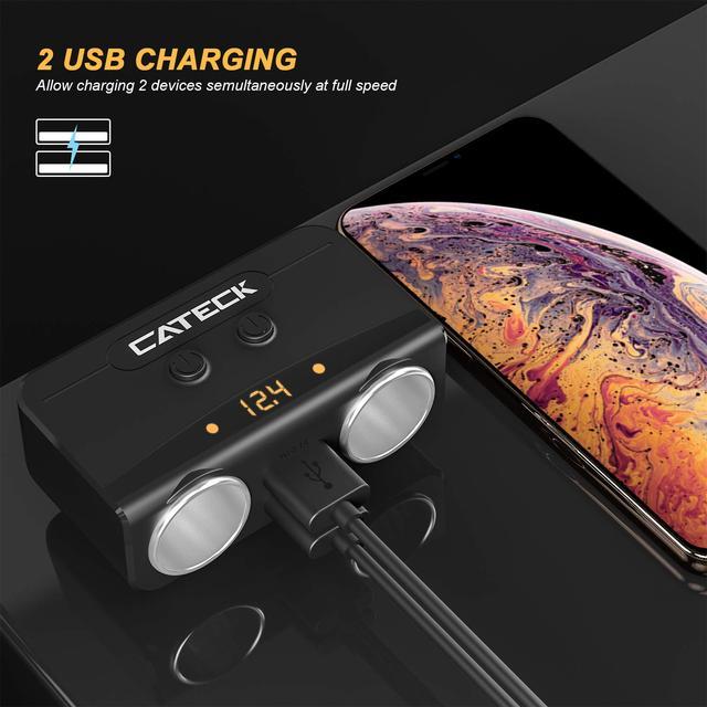 Разветвитель прикуривателя  двойной автомобильный зарядный адаптер USB