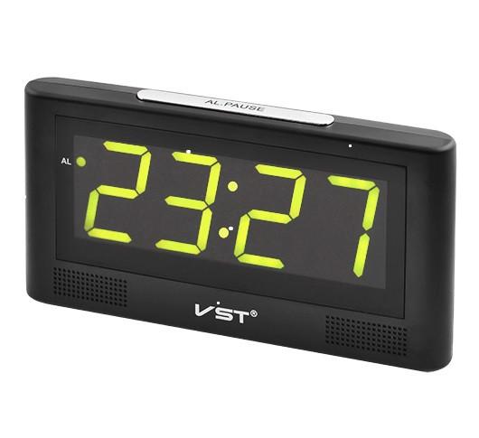Часы сетевые VST 732-2 зеленые