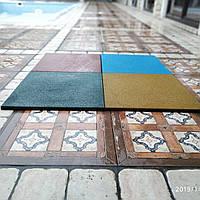 Резиновая плитка 500х500х20 желтая, фото 1