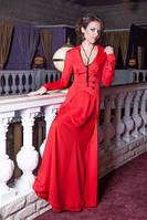 Элегантное длинное платье с шифоновой юбкой