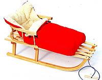 Санки деревянные WOOD RED, фото 1