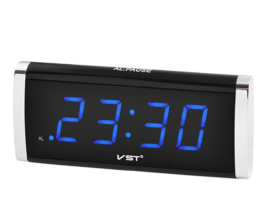 Часы сетевые VST 730-5 синие