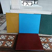 Резиновая плитка 500х500х30 синяя, фото 1