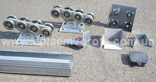 S. Premier STRONG-800 ZINC. Фурнитура для откатных ворот до 800 кг.