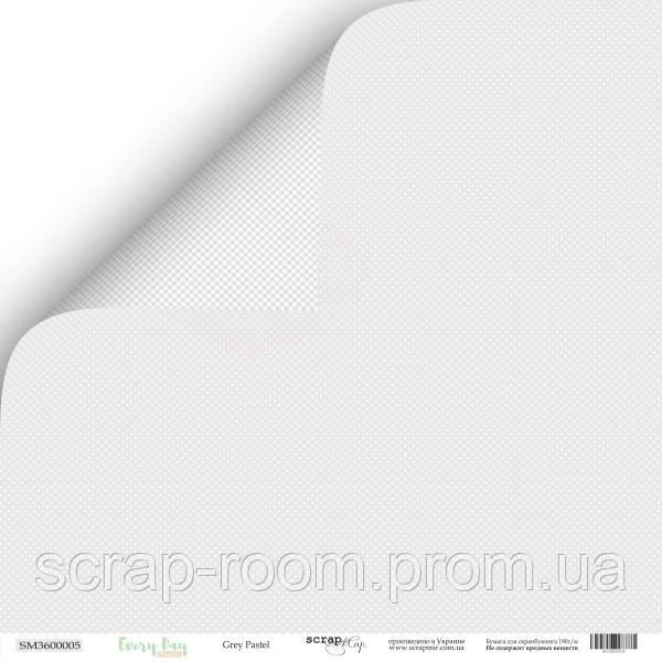 Лист двусторонней бумаги 30x30 от Scrapmir Grey Pastel из коллекции Every Day