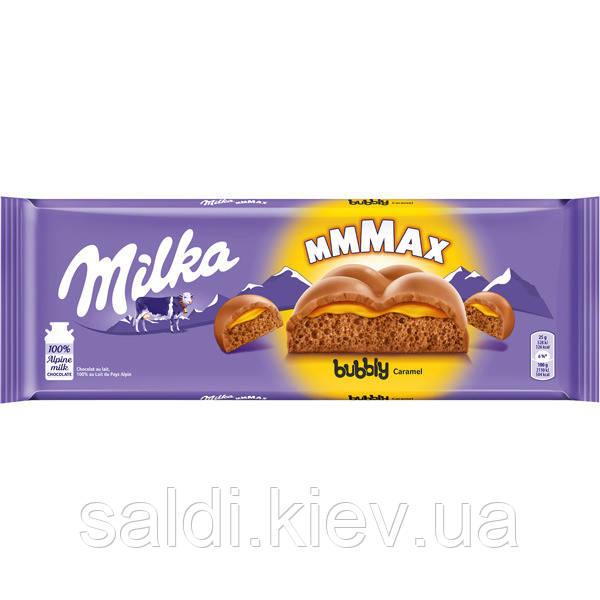 Молочный шоколад Милка Milka Bubbly Caramel 250g (Швейцария)