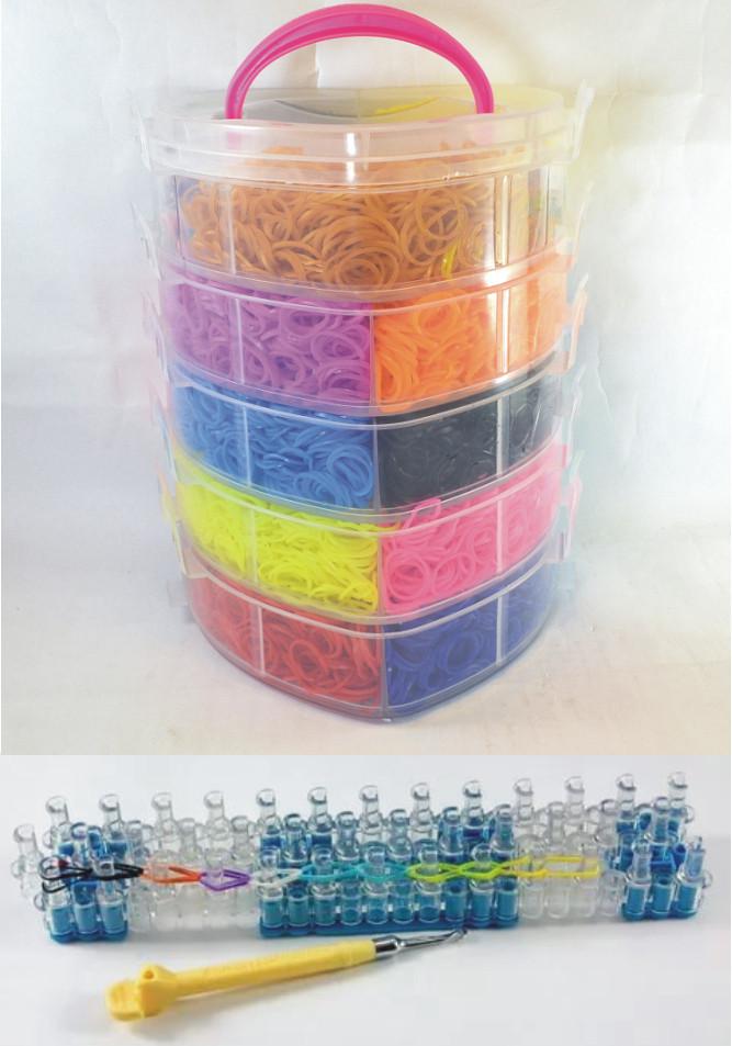 5 поверховий набір резинок для плетіння браслетів 13000 + професійний верстат
