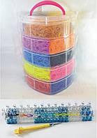 5 этажный набор резинок для плетения браслетов 13000 + станок профессиональный