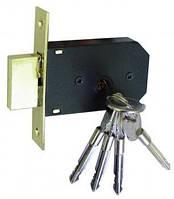 Замок врезной дополнительный USK (ЮСК) с крестообразным ключом (с ключом крест) 45-R BN.