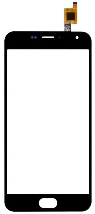 Сенсорный экран (тачскрин) Meizu M2 | M2 mini чёрный ориг. к-во