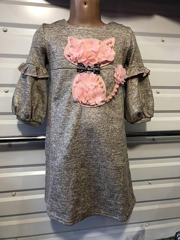 Детское платье для девочки Лолита 6-9 лет серый, фото 2