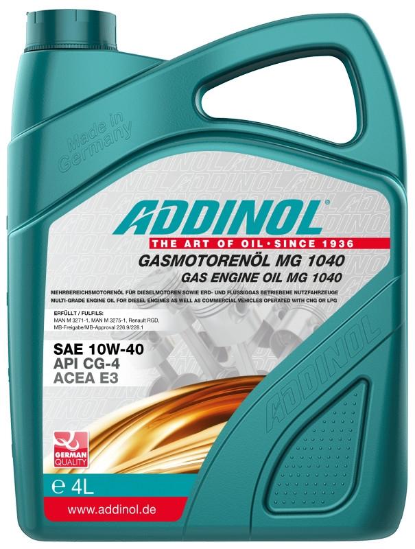 ADDINOL Gasmotorenol MG 1040 10W-40 4л