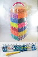 7 этажный набор резинок для плетения браслетов 19000 + станок профессиональный