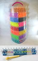 8 этажный набор резинок для плетения браслетов 22000 +станок профессиональный