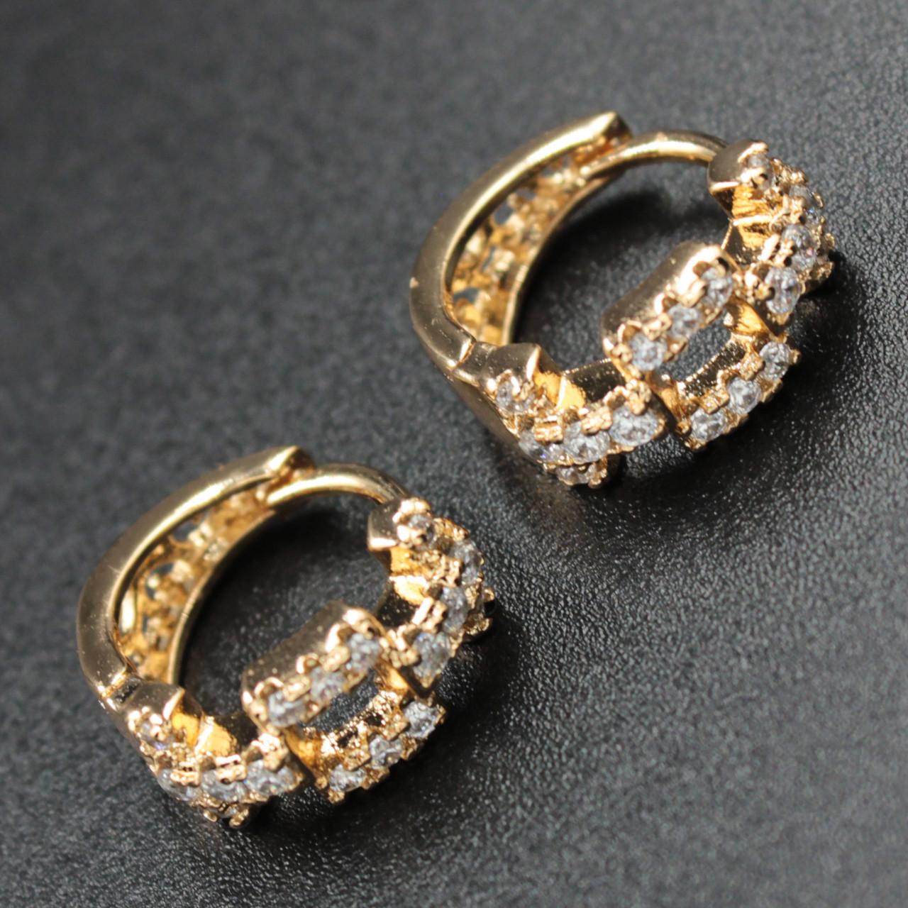 """Серьги женские """"Nikolina"""" Xuping Jewelry (позолота)."""