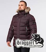 Зимняя мужская куртка Braggart «Aggressive» (Бреггарт) с капюшоном  темно-бордового цвета e13897e6e38