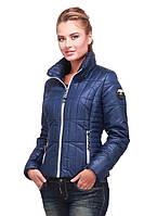 Короткая женская курточка модного кроя с утеплителем