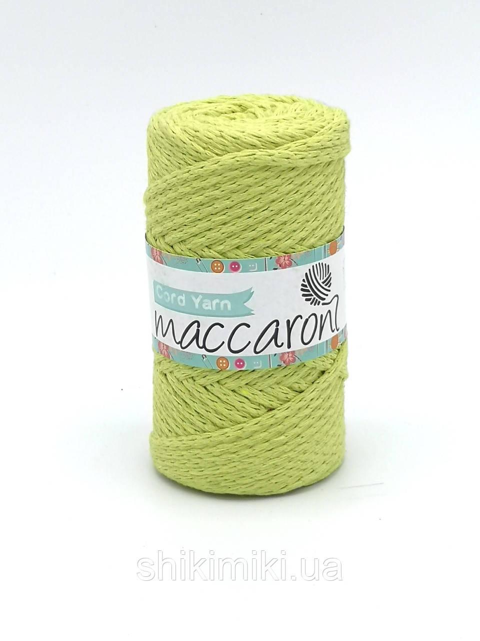 Трикотажный хлопковый шнур Maccaroni Cord YARN , цвет фисташковый