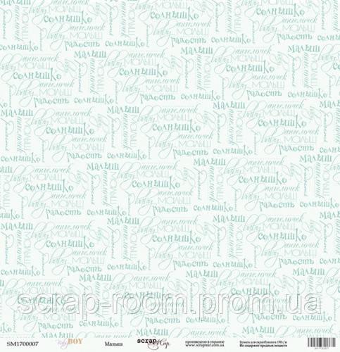 Лист односторонней бумаги 30x30 от Scrapmir Малыш из коллекции Baby Boy