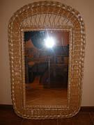 Зеркала в раме из лозы. Плетеные рамы для зеркал из ивовой лозы.