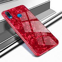 Чехол Marble для Huawei P Smart Plus / Nova 3i / INE-LX1 бампер мраморный оригинальный Красный