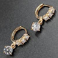 """Серьги женские """"Onorata """" Xuping Jewelry (позолота)."""