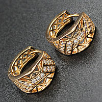 "Серьги женские ""Honoria"" Xuping Jewelry (позолота)."