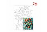 Холст на картоне с контуром, «На августовской окраине лета», А. Навроцкая, 30 * 40, ROSA START