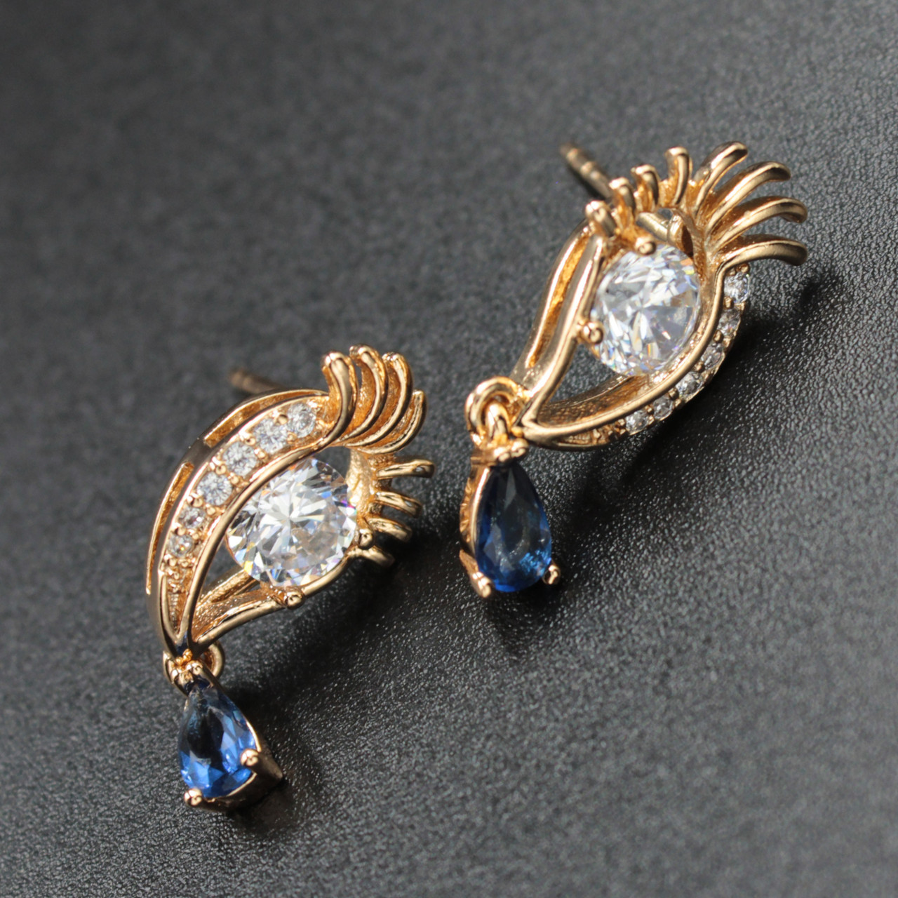 "Серьги женские ""Эннора"" Xuping Jewelry (позолота)."